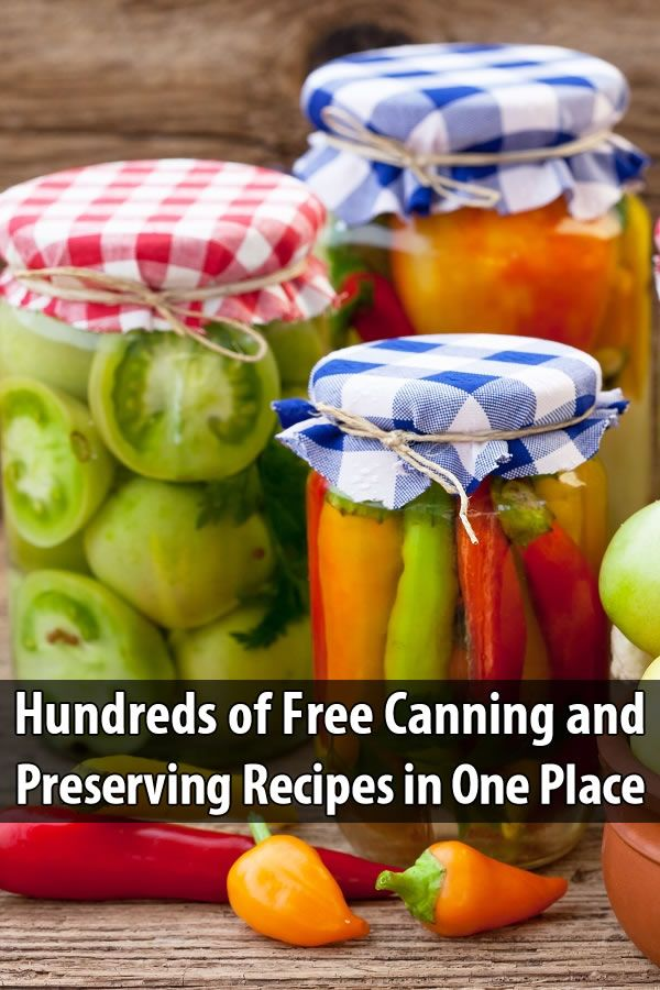 Why buy a canning and preserving cookbook when you can get countless recipes online for free? Jams, jellies, butters, pickles, beets... it's all here!