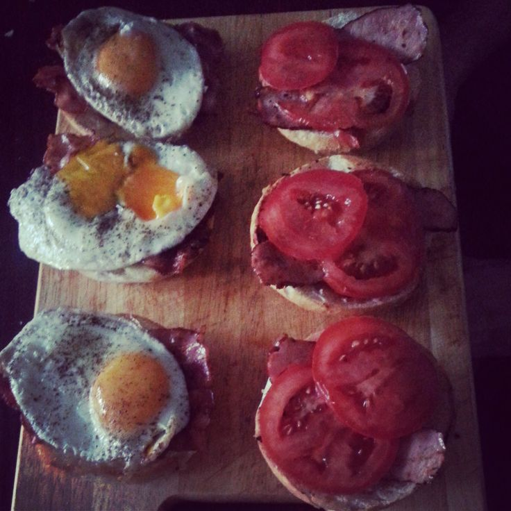 #brunch #for #my #love #slow #food #homemade #burgers #egg #bacon #ham #tomato #mayo