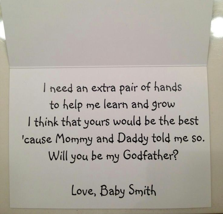 Godparent poem | Baby | Pinterest