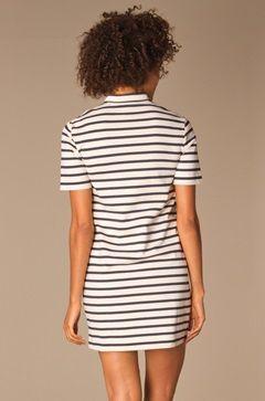 Perfectly Basics Gestreepte Jurk - Navy/Off-White - perfect stripe dress indigo
