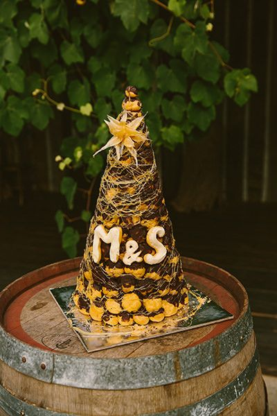 Croquembouche wedding cake. Image: Cavanagh Photography http://cavanaghphotography.com.au/