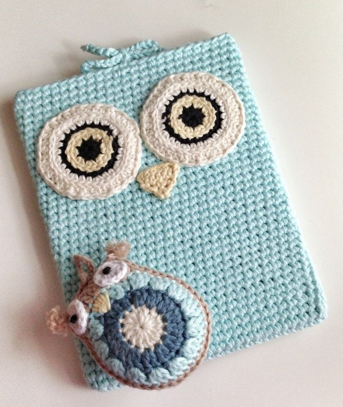Crochet owl ipad sleeve. Inspiration only.