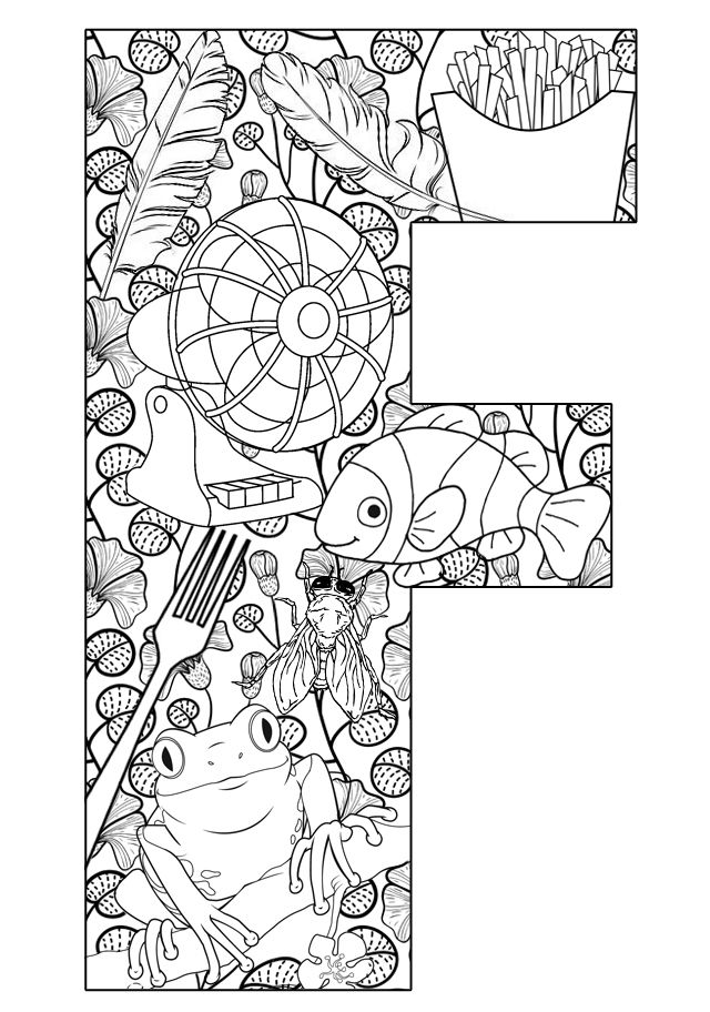 f letter coloring pages - photo #48