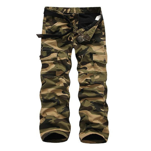 Winter Thick Fashion Cotton Warm Mens Cargo Pants Outdoor Casual Camouflage Pocket Overalls at Banggood  #men #fashion #accessories
