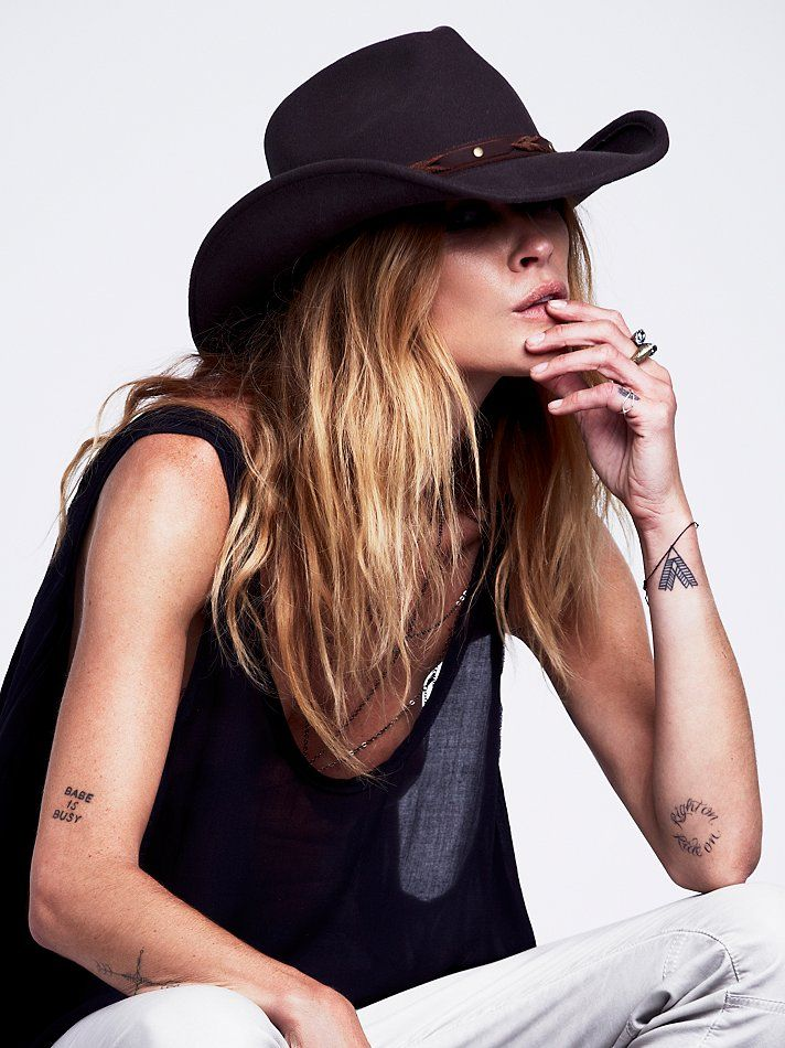 Free People Sloane Felt Cowboy Hat, £48.00