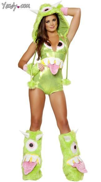 deluxe one eyed monster costume monster halloween costume monster girl costume green monster costume - Wholesale Halloween Costumes Phone Number