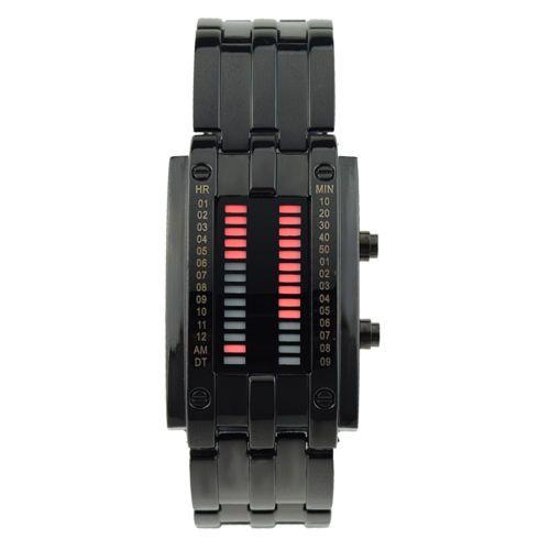 Mens-Amazing-Waterproof-Army-Binary-LED-Digital-Stainless-Steel-Date-Wrist-Watch