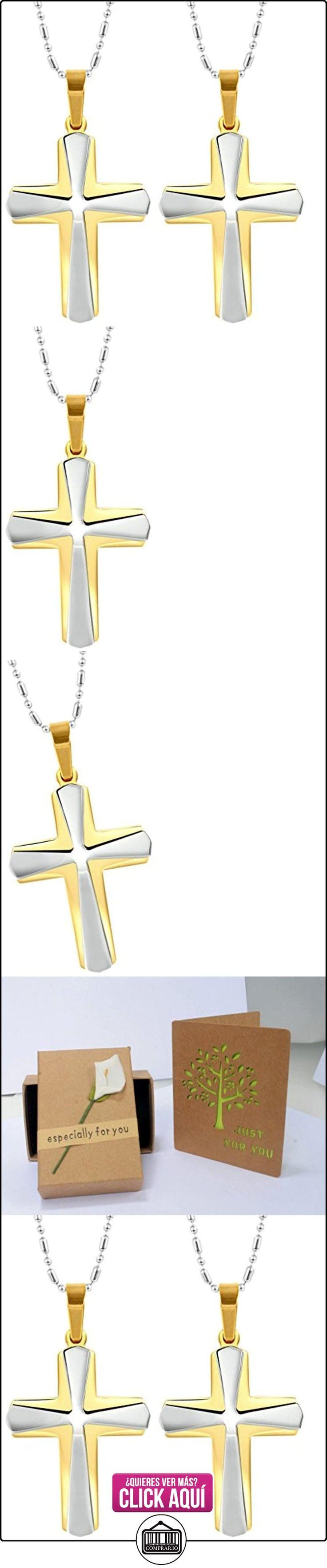 Daesar Conjuntos de Joyería Colgante Collar Acero Hombre, Doble Convexo Cruz Crucifijo Colgante para Hombres con Aleatoria Cadena  ✿ Joyas para niños - Regalos ✿ ▬► Ver oferta: https://comprar.io/goto/B01CNZQSXM