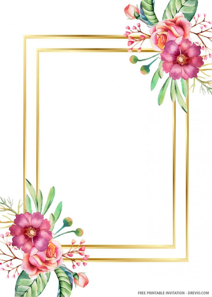 Free Printable Gold Wedding Invitation Template Gold Wedding Invitations Free Wedding Invitation Templates Wedding Invitation Templates