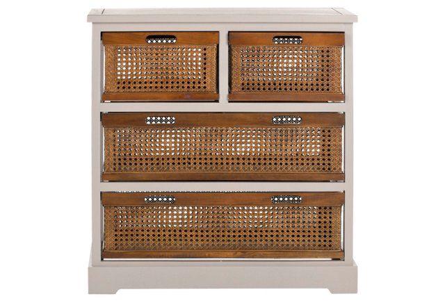 Virginia 4-Drawer Storage Unit, Taupe