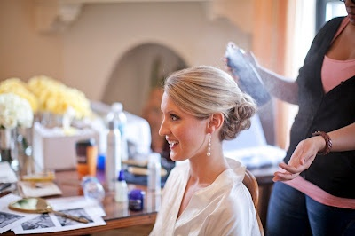 Korena from Sonia Roselli made sure everyone's hair was perfect for the day!
