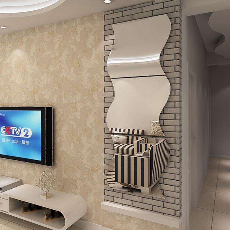 Las 25 mejores ideas sobre espejos de pared decorativos for Pegatinas pared baratas