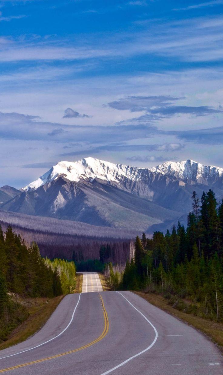 El camino a las Montañas Rocosas canadienses, el Parque Nacional Kootenay