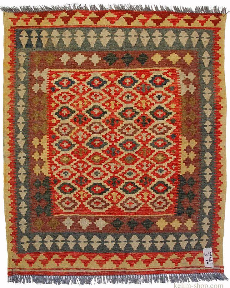 117×100 cm orient Teppich Afghan Turkmen Nomaden