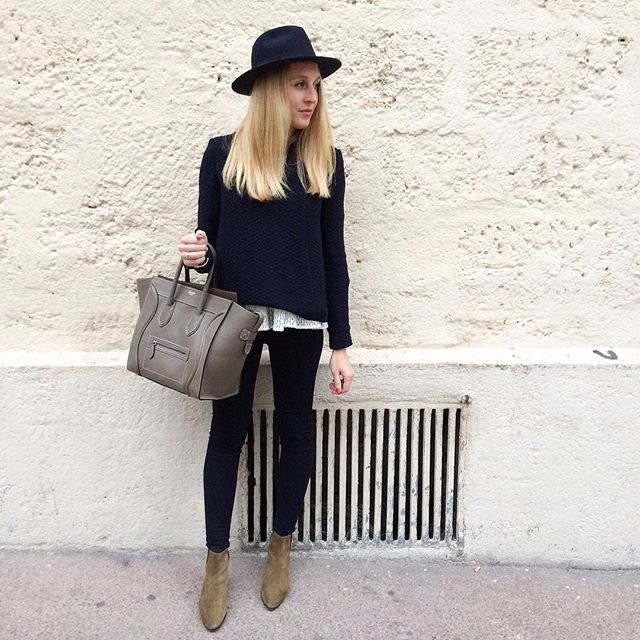 P a t s h a  B o o t s  #outfit #todayimwearing • blouse #Bash • blouse dentelle #mademoiselleD • jean (new co)  #mango • boots #patsha #isabelmarant • chapeau #bash • sac #luggage #celine  Une journée mère fille ❤️ shopping tea Time!