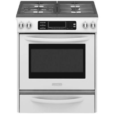 KitchenAid Pro Line Series 4.1 cu. ft. Slide-In Gas Range with Self-Cleaning Convection Oven in Stainless Steel-KGSS907XSP - The Home Depot