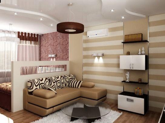 Комната 18 кв.м. - дизайн интерьера, зонирование и варианты планировки