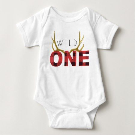 Lumberjack Wild One | First Birthday Baby Bodysuit - tap to personalize and get yours