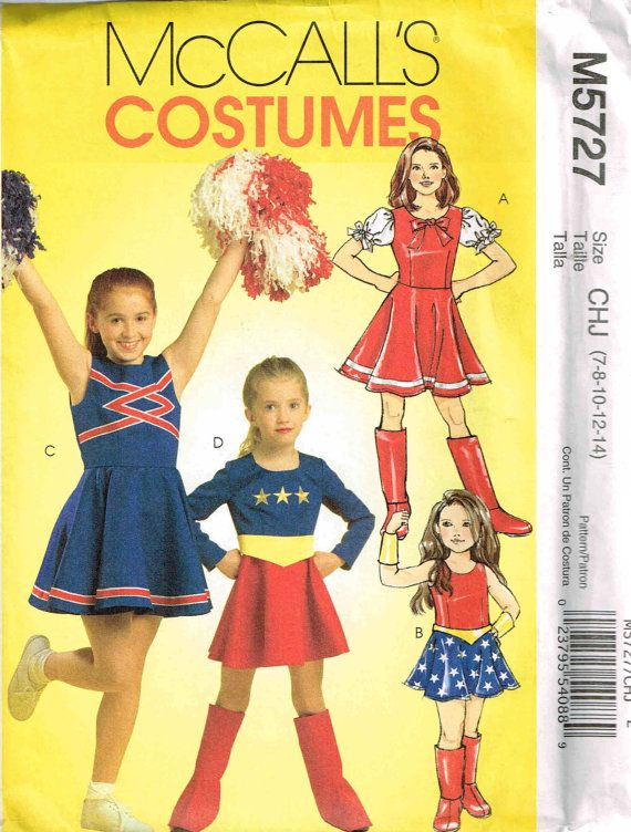 sewing pattern halloween costume girls cheerleader wonder woman super hero boot covers by peoplepackages - Halloween Costume Patterns For Kids