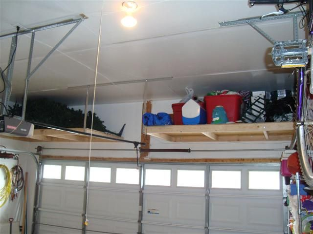 Another DIY Wood Platform Overhead Storage Option