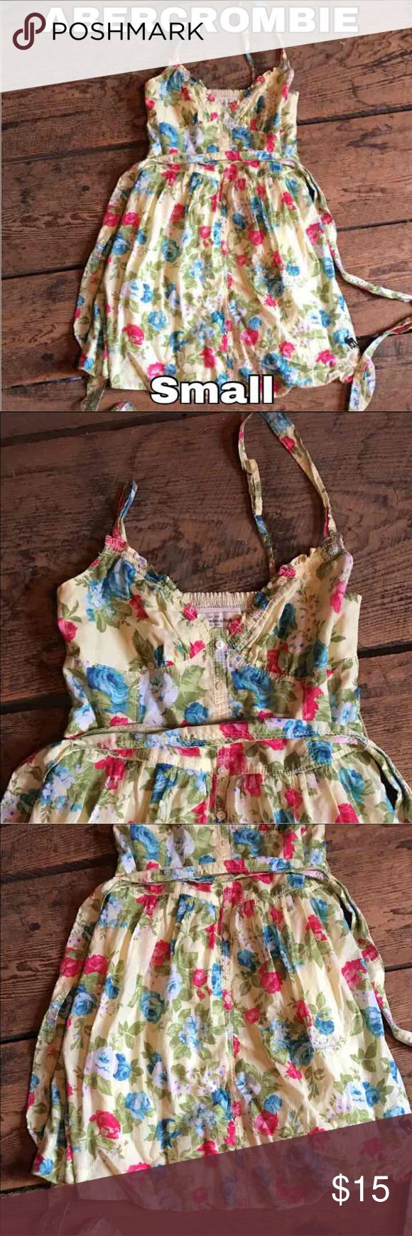 Women's Small Yellow Abercrombie dress Like new, I never wore it. Abercrombie & Fitch Dresses Mini