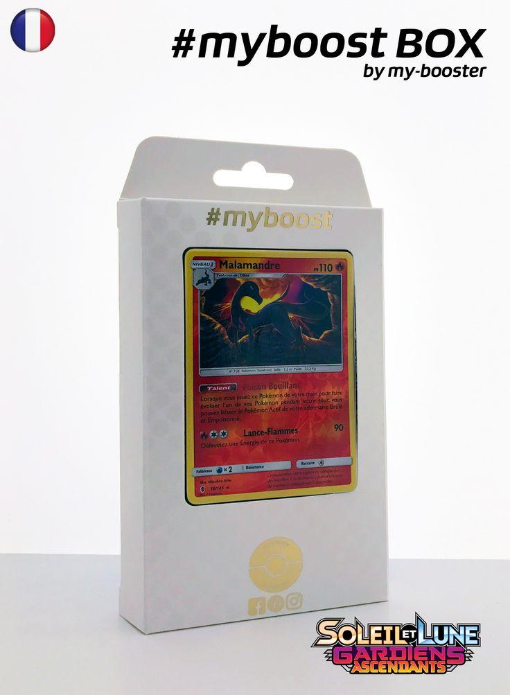 Coffret #myboost MALAMANDRE 16/145 Contient 10 cartes Pokemon francaises Soleil et Lune 2 neuves dont : - la carte MALAMANDRE holo reverse 16/145 110PV de la serie Soleil&Lune 2 - 1 carte Holographique ou Reverse - 1 carte 100PV - 1 carte 90PV - 1 carte 80PV my-booster, l offre POKEMON PREMIUM