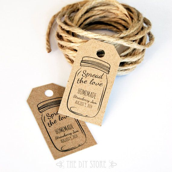 Spread The Love Wedding Favor Tag Template, SMALL Hang Tags, Gift Tags, Wedding Favor Labels