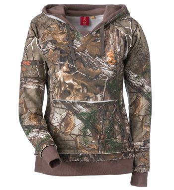 SHE Outdoor Vintage Camo Hoodie for Ladies