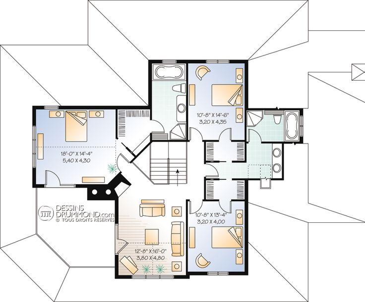 35 best ma maison images on Pinterest House blueprints, House