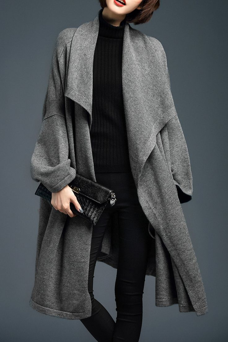 Best 25+ Long knit cardigan ideas on Pinterest   Chunky cardigan ...