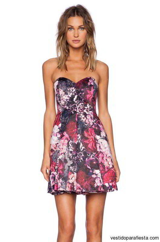Vestidos floreados cortos de fiesta 2015 - https://vestidoparafiesta.com/vestidos-floreados-cortos-de-fiesta-2015/