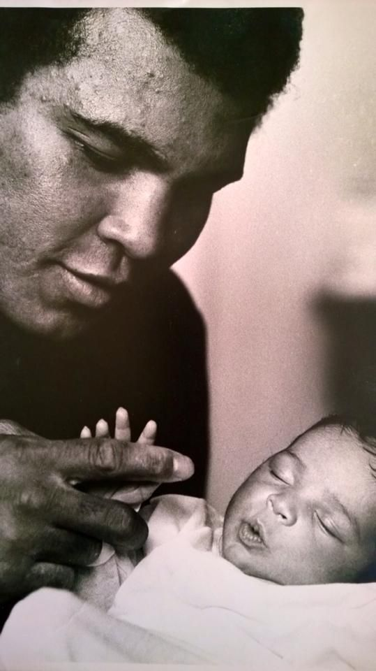 Muhammad Ali and his daughter Laila Ali