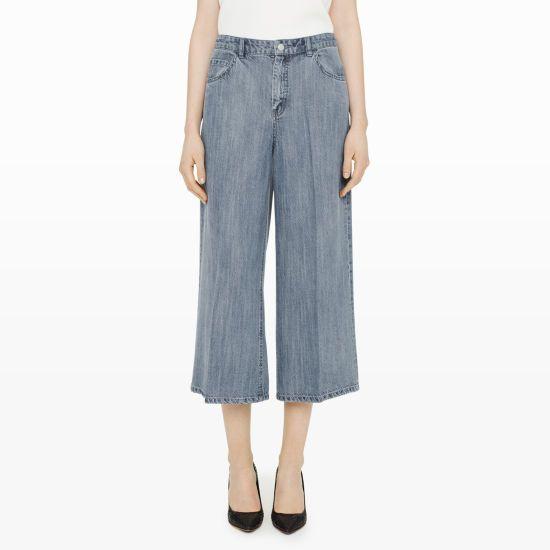 Carol Denim Culotte - Culottes Pants at Club Monaco
