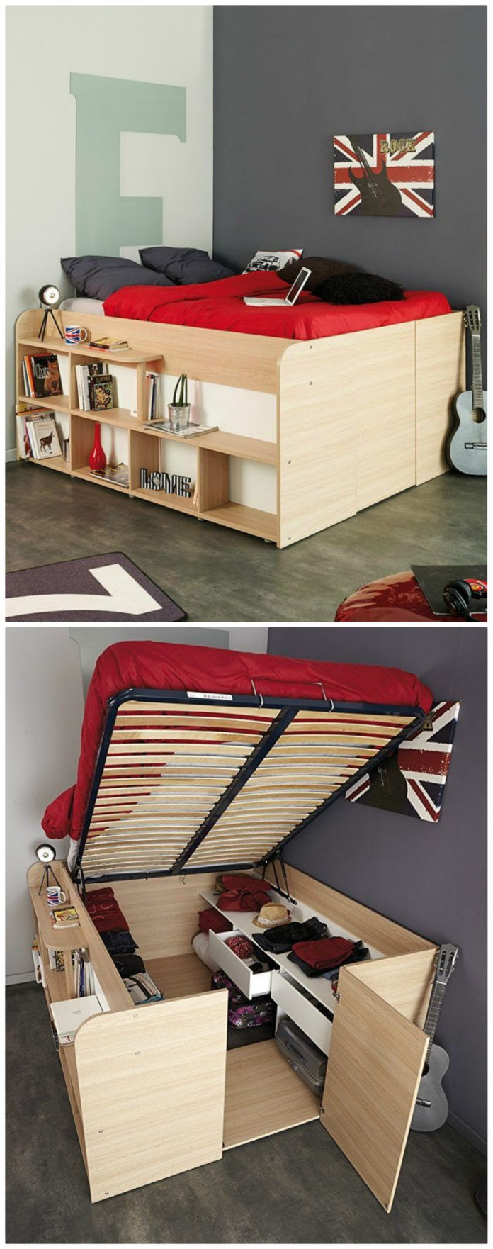 Get some extra mileage out of your sleeping space with these 12 storage beds