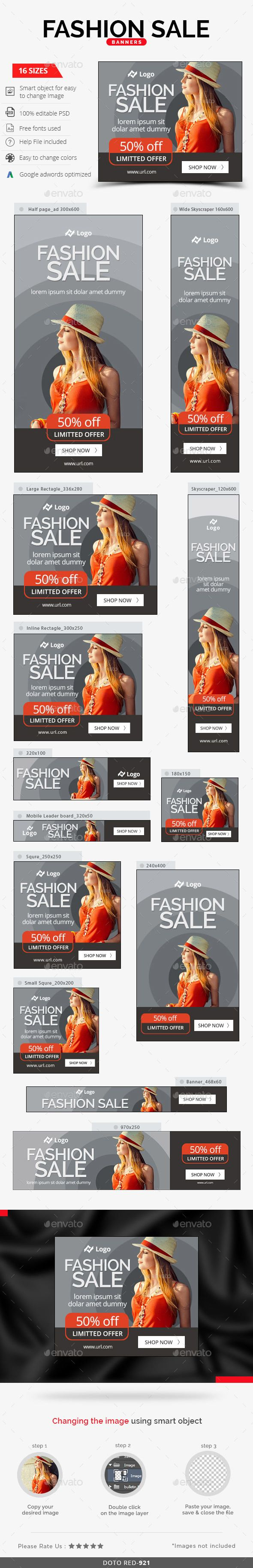 Fashion Sale Web Banners Template PSD #design Download…