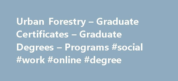 Urban Forestry – Graduate Certificates – Graduate Degrees – Programs #social #work #online #degree http://degree.remmont.com/urban-forestry-graduate-certificates-graduate-degrees-programs-social-work-online-degree/  #online forestry degree # Graduate Certificate in Urban Forestry – Online The Oregon State University Graduate Certificate in Urban Forestry prepares you to think both scientifically and strategically. You will learn to effectively apply the principles of urban forestry, green…