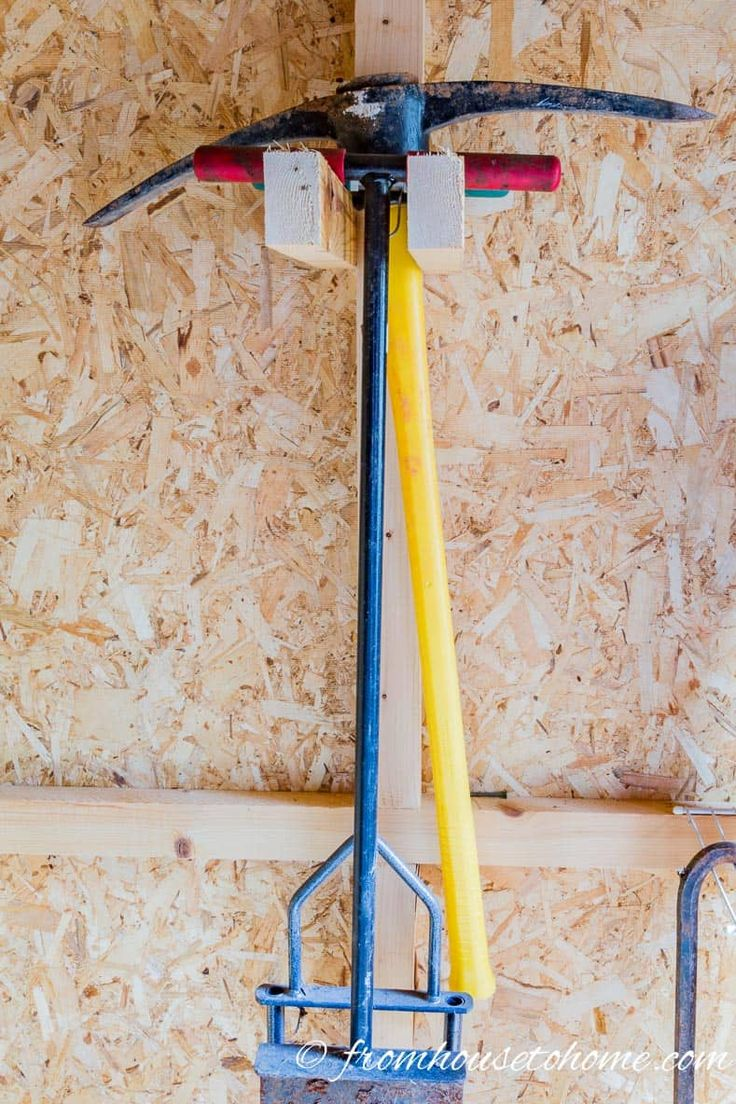Shed Organization: 8 Easy and Inexpensive DIY Garden Tool Storage Ideas - Organization: Shed