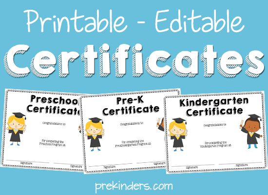 end of year activities + certificates | end of year | pre-k