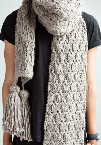 Free Knitting Pattern for Dew Drop Super Scarf