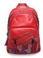 Marc Jacobs Women's Leather ¿pyt¿ Jewled Studded Backpack Red.