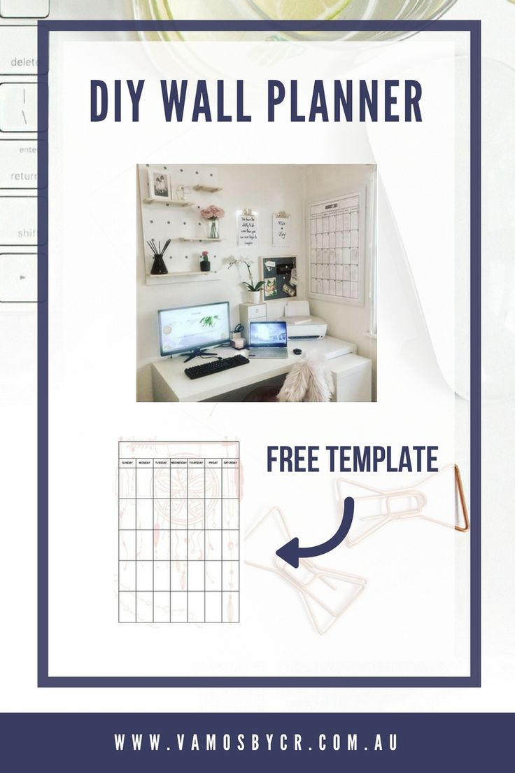 Are you looking for a DIY wall planner (this was done with a Kmart Frame), get you free template and instructions here.