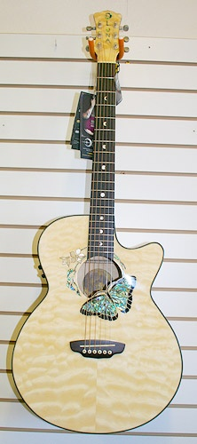 Luna Butterfly acoustic I want this guitar soooooo bad now I just need money