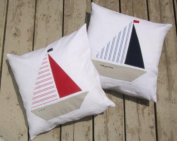 sailboat pillows
