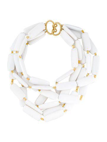 Verdura White Agate Multi Strand Necklace