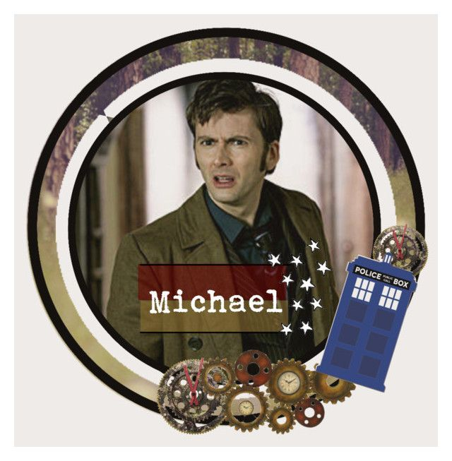 """""""10th Doctor icon :)"""" by mini-weasley ❤ liked on Polyvore featuring art"""