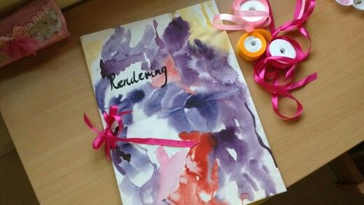 DIY watercolor file cover instant gratification wonderful results