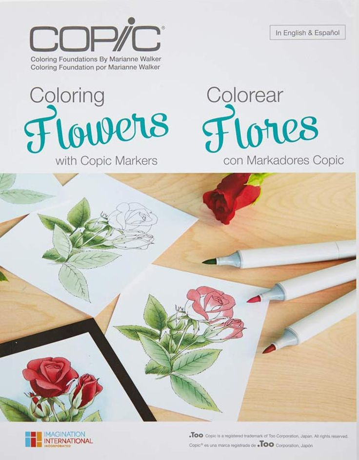 New Product Announcement Coloring Foundations Collections Flowers Copic HelloCopic Markers