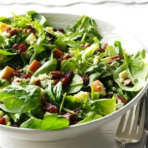 Michigan Cherry Salad Recipe -This recipe reminds me what I love about my home state: apple picking with my children, buying greens at the farmer's market and tasting cherries on vacations. —Jennifer Gilbert, Brighton, MI