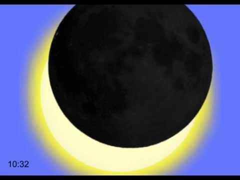 Animatie van de gedeeltelijke zonsverduistering op 20 maart 2015 (c) NOVA