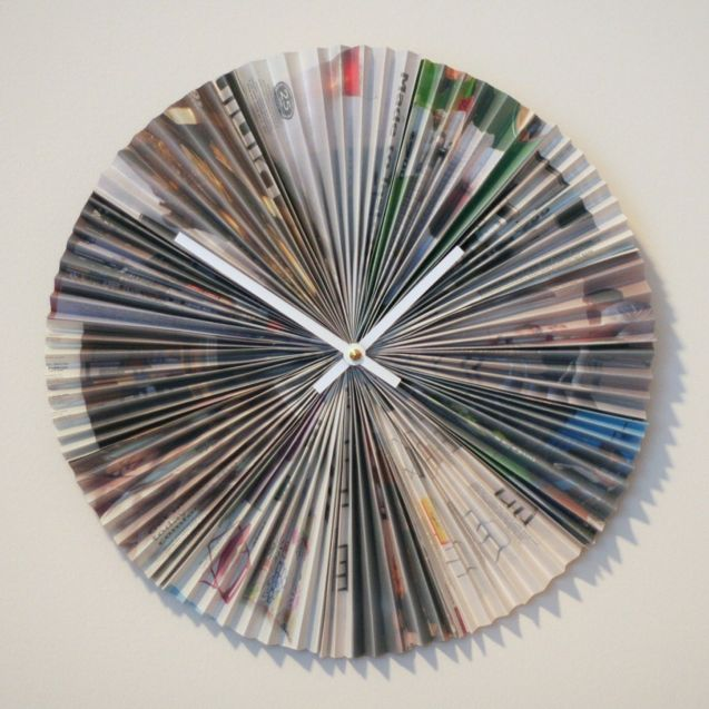 clock from magazine pages #ikea #recycle #repurpose #upcycle @totgreencraft